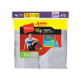 Hanes Men's Cushion Low Cut Socks 13-Pack (Includes 1 Free Bonus Pair) 188V13