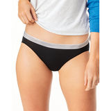 Hanes Cool Comfort Women's Microfiber Sporty Bikinis 6-Pack M642SC