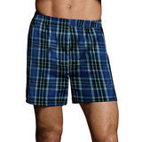 Hanes Mens TAGLESS Ultimate Fashion Boxer with Comfort Flex Waistband Assorted Pattern Blues 3-Pk UTHXX3