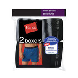 Hanes Men's Exposed Waistband Knit Boxer 2-PK 548KP2