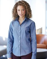 Van Heusen Women's Chambray Spread Collar Shirt 13V0466