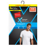 Hanes Men's Red Label X-Temp White Crew 6-Pack 2535X6