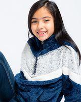 Boxercraft Girls' Chevron Fuzzy Fleece Pullover YFZ05
