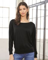 Bella + Canvas Women's Flowy Long Sleeve Off Shoulder Tee 8850