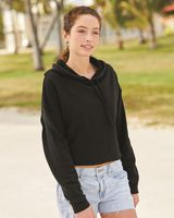 Independent Trading Co. Women's Lightweight Cropped Hooded Sweatshirt AFX64CRP