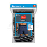 Hanes Classics Mens TAGLESS ComfortSoft Knit Boxers with Comfort Flex Waistband 5-Pk 709BP5