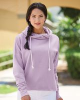 J. America Women's Lounge Fleece Hi-Low Hooded Pullover 8684