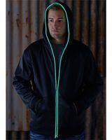 J. America Glow Full Zip Hood 8668