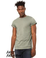 Bella + Canvas Fast Fashion Unisex Jersey Rolled Cuff Tee 3004