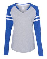 LAT Women's Fine Jersey Mash Up Long Sleeve T-Shirt 3534
