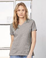 Bella + Canvas Women's Relaxed Short Sleeve Jersey V-Neck Tee 6405