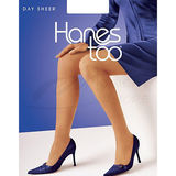 Hanes Too Day Sheer Non Control Top Reinforced Toe Pantyhose 116
