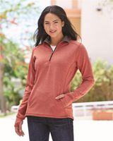 J. America Omega Stretch Terry Women's Quarter-Zip Pullover 8433