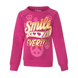 Hanes Girls Smile 4 Peace Crewneck Sweatshirt K216/L5