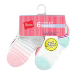 Hanes Girls Toddler Low Cut Socks 6-Pack TG38W6