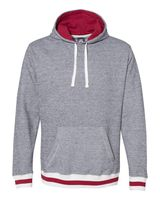 J. America Peppered Fleece Lapover Hooded Pullover 8701