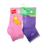 Hanes Infant Girls Ankle Socks 6-Pack 37T6