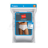 Hanes Classics Mens TAGLESS No Ride Up Briefs with Comfort Flex Waistband 7-Pk 7764W7