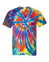 Dyenomite Short Sleeve Rainbow Cut-Spiral T-Shirt 200TD