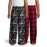 Hanes Boys' Micro Fleece Sleep Pant 2-Pack 06030