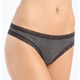 DKNY Signature Lace Heather Cotton Thong DK3687