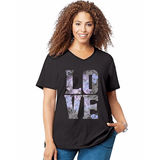Just My Size Big Love Short Sleeve Graphic Tee GTJ181 Y05546