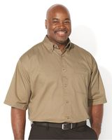 Sierra Pacific Short Sleeve Cotton Twill Shirt Tall Sizes 6201