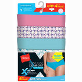Hanes X-Temp Constant Comfort Womens Hipster Panties 4-Pack CO41AS