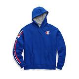 Champion Men's Powerblend Fleece Pullover Hoodie, Vertical Logo
