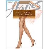 Hanes Absolutely Ultra Sheer Control Top Sheer Toe Pantyhose 707