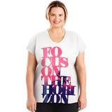 Just My Size Active Dolman Sleeve Graphic Tee Concentric Circles OJ358
