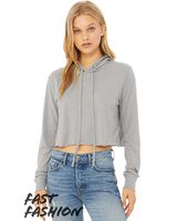 Bella + Canvas Fast Fashion Women's Cropped Long Sleeve Hoodie 8512