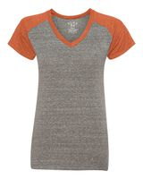 Blue 84 Juniors' Triblend V-Neck Raglan T-Shirt SJTR