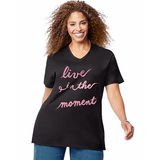 Just My Size Live In The Moment Short Sleeve Graphic Tee GTJ181 Y07191