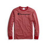 Champion Men's Heritage Heather Long-Sleeve Tee, Script Logo T4528G 549914