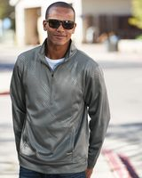 J. America Volt Polyester Quarter-Zip Sweatshirt 8669
