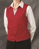 Chef Designs V-neck Button-Front Vest 1360