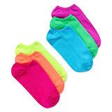 HUE Women's 6-Pack Microfiber Liner Socks U2478