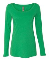 Next Level Women's Triblend Long Sleeve Scoopneck Tee 6731