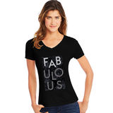 Hanes Women's Fabulous Short Sleeve V-Neck Tee GT9337 Y06750