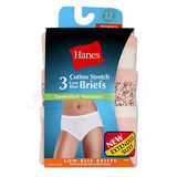 Hanes Womens Plus Low-Rise Stretch Brief with ComfortSoft Waistband 3-Pk E39PAS