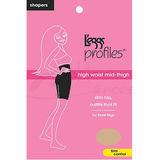 Leggs Hosiery 10413 Profiles Hi-Waist Mid-Thigh Smoother