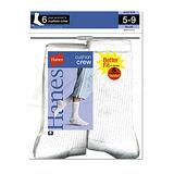 Hanes Womens Crew Socks 6-Pk 683/6