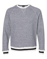 J. America Peppered Fleece Crewneck Sweatshirt 8702