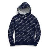 Champion Women's Heritage Fleece Pullover Hoodie, All Over Logo W9535P