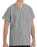 Chef Designs Checked V-Neck Chef Shirt SP08
