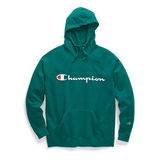 Champion Women's Plus Powerblend Fleece Hoodie, Script Logo