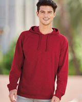 J. America Vintage Slub Knit Hooded Long Sleeve Pullover 8245