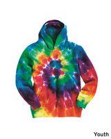 Dyenomite Youth Multi-Color Swirl Hooded Sweatshirt 854BMS