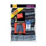 Hanes Mens Yarn Dyed Plaid Boxers 5-Pk 841BX5